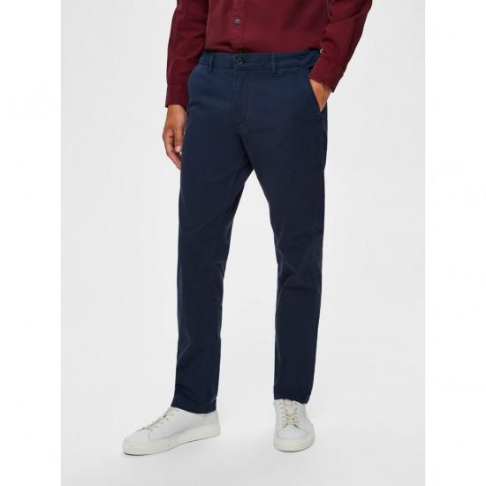 Selected homme - Pantalon chino bleu marine
