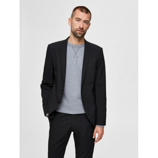 Selected - Veste costume noire slim fit