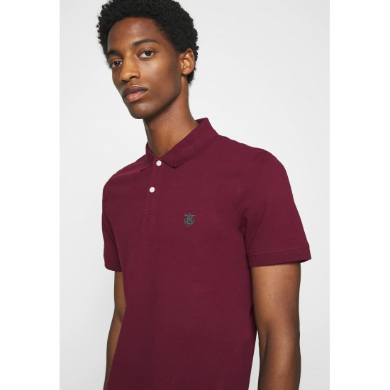 Selected - Polo homme bordeaux