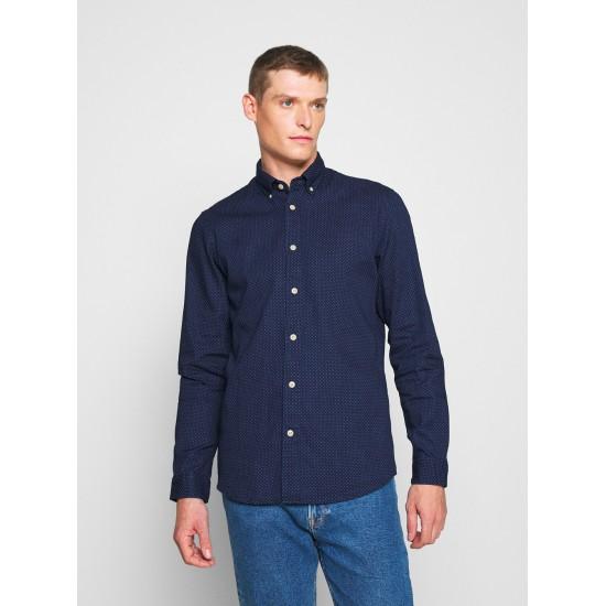Selected homme - Chemise bleue à motifs