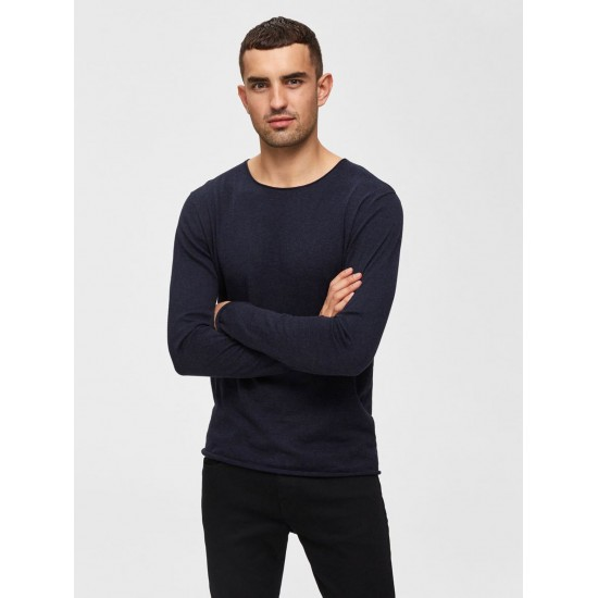 Selected homme - Pull fin marine
