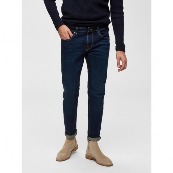 Selected homme - Jeans slim fit dark blue denim