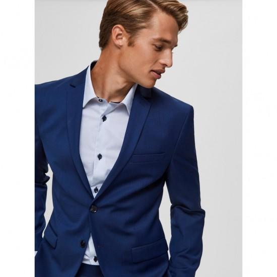 Selected - Blazer homme bleu structuré