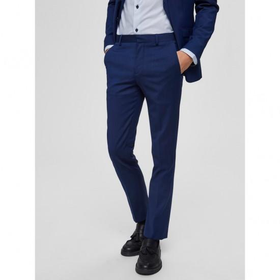 Selected - Pantalon costume bleu structuré