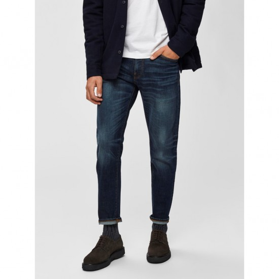 Selected homme - Jeans slim bleu foncé