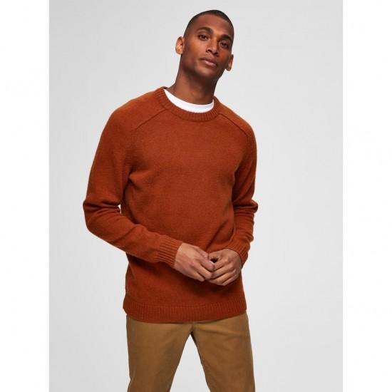 Selected homme - Pull marron en laine