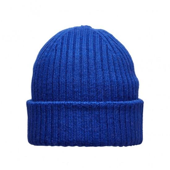 Selected - Bonnet bleu électrique en laine