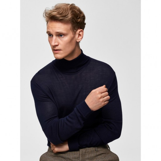 Selected homme - Pull col roulé marine