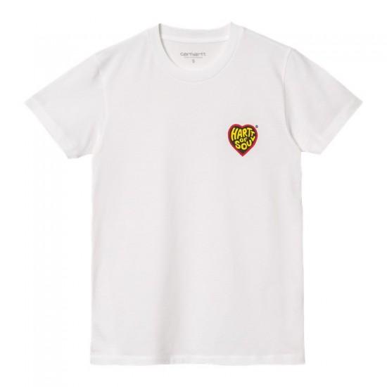 Carhartt WIP - Tshirt Hartt of Soul blanc