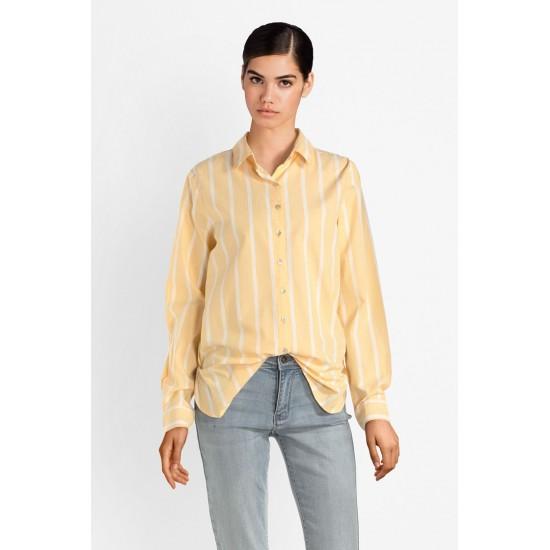 Ichi - Chemise rayée jaune et blanche