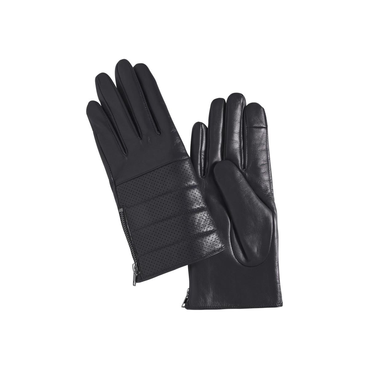 Ichi - Gants en cuir noir