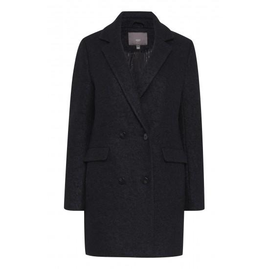 Ichi - Manteau en laine noir