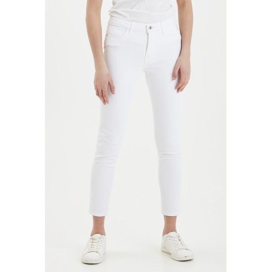 Ichi - Jean blanc taille haute
