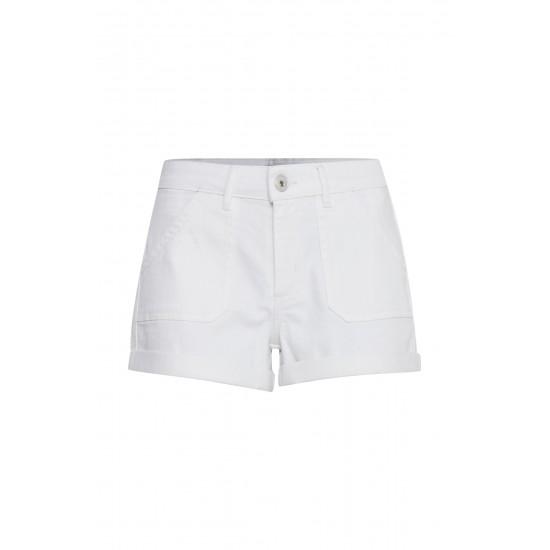 Ichi - Short en jeans blanc