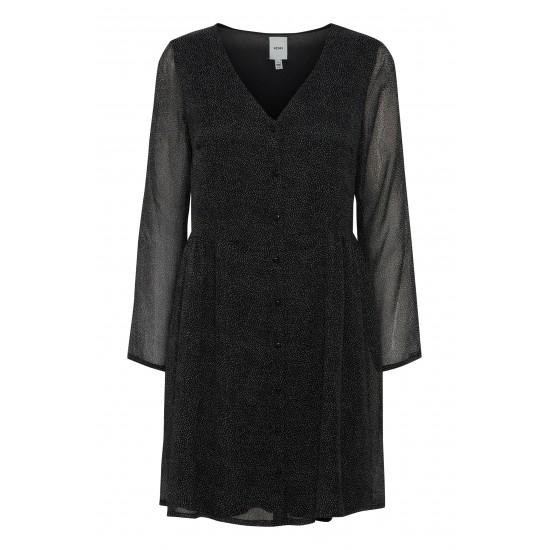 Ichi - Robe noire mouchetée
