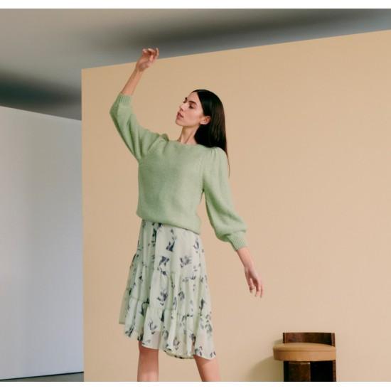 Ichi - Pull vert pailleté femme