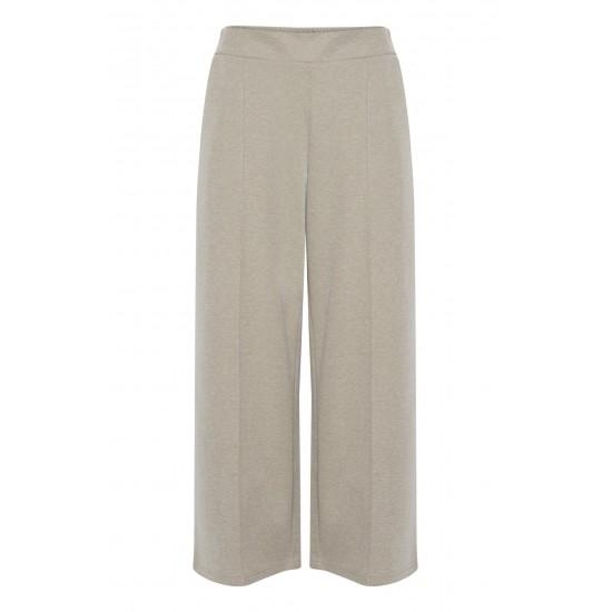 Ichi - Pantalon twisté beige femme