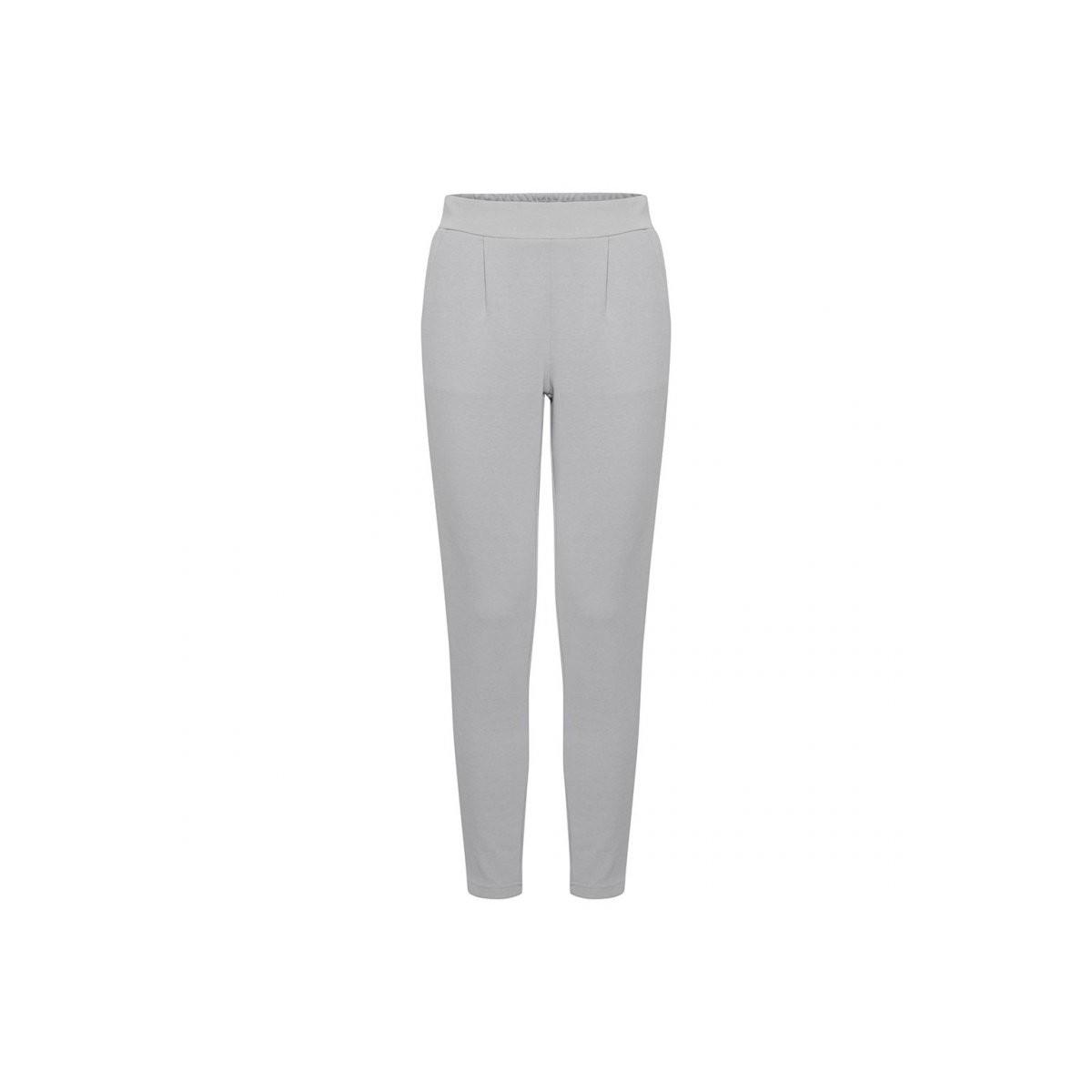 Ichi - Pantalon twisté gris clair femme