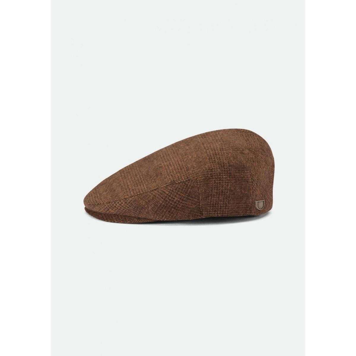 Brixton - Casquette tweed à carreaux marron