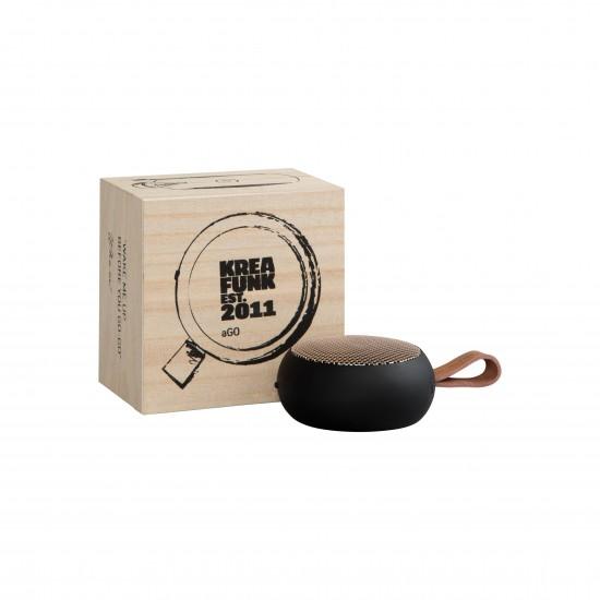 Kreafunk - Enceinte bluetooth portable aGo noire