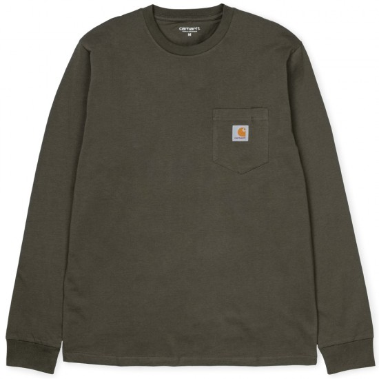 Carhartt WIP - T-shirt vert kaki manches longues