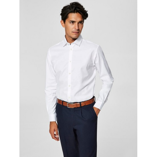Selected homme - Chemise slim blanche
