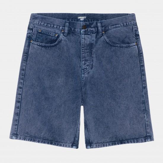 Carhartt WIP - Short en jeans bleu foncé