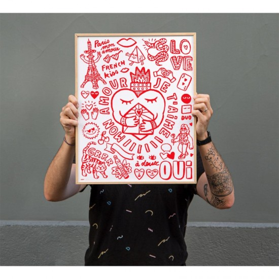 Omy - Pocket coloriage amour