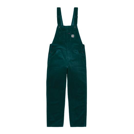Carhartt WIP - Salopette en velours vert femme
