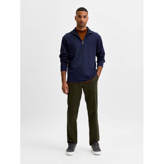 Selected homme - Pantalon droit vert forêt