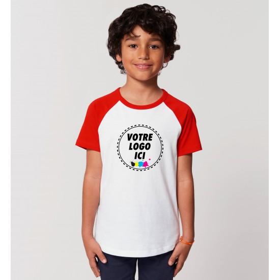 Marcel et Maurice - T-shirt contrasté enfant bio personnalisé