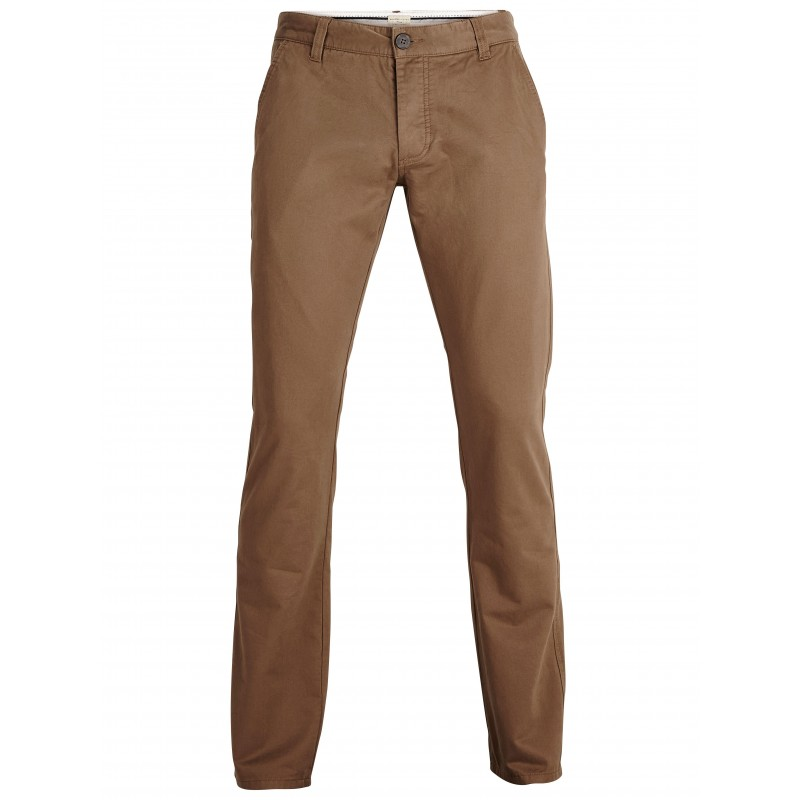 selected homme pantalon chino coupe droite camel. Black Bedroom Furniture Sets. Home Design Ideas