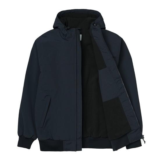 Carhartt - Manteau bleu marine à capuche