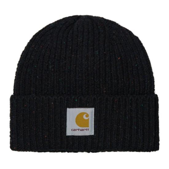 Carhartt - Bonnet en laine noir moucheté