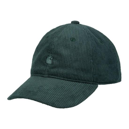 Carhartt WIP - Casquette verte en velours côtelé