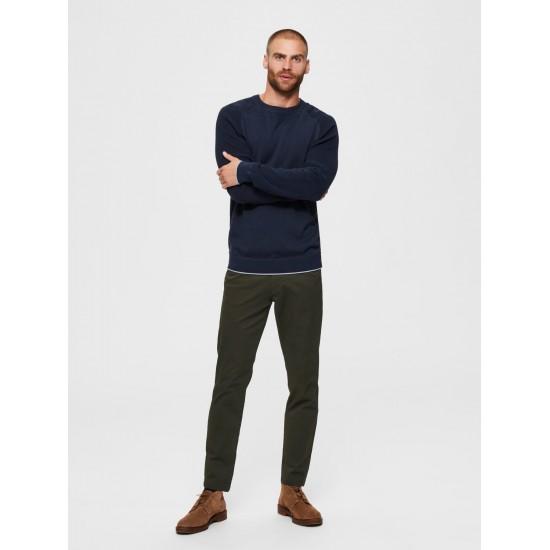 Selected homme - Pantalon chino ajusté kaki