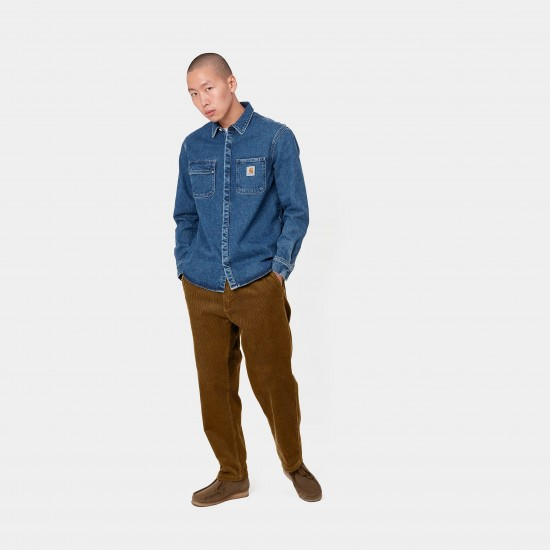 Carhartt WIP - Pantalon en velours côtelé marron