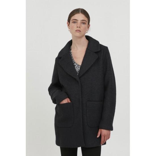 Ichi - Manteau en laine noire