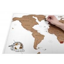 Luckies -Poster Carte du monde à gratter