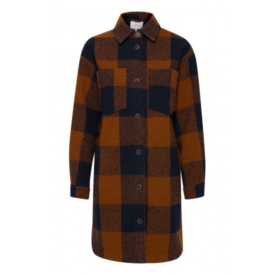 Ichi - Manteau en laine ocre