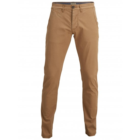 Selected homme - Pantalon chino camel skinny