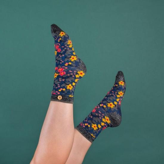 Cabaia - Chaussettes femme fleurs