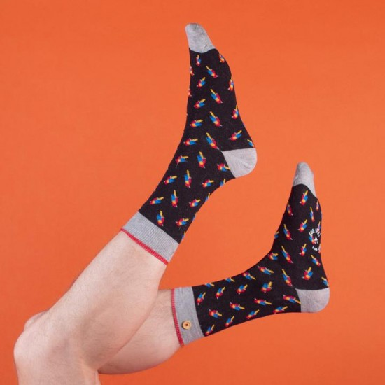 Cabaia - Chaussettes homme perroquets