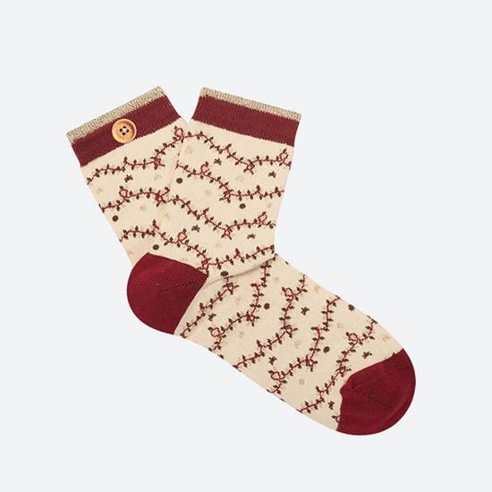 Cabaia - Chaussettes femme guirlandes Noël