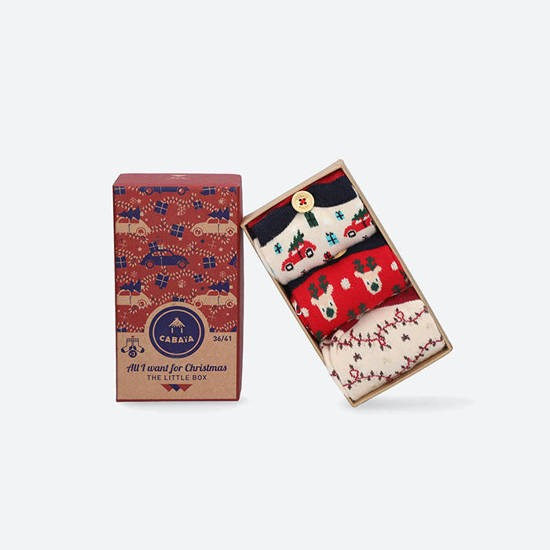 Cabaia - Pack de chaussettes All I want for Christmas