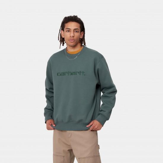 Carhartt WIP - Sweat Carhartt vert d'eau