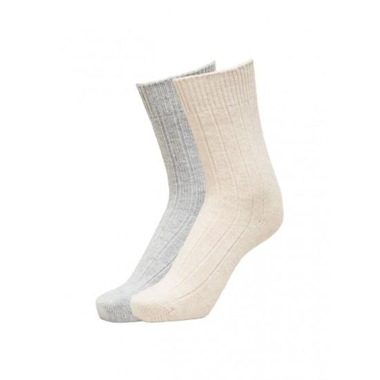 Selected - Pack de chaussettes en laine unie