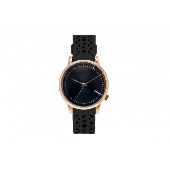 Komono - Montre Estelle Cutout Black Rose