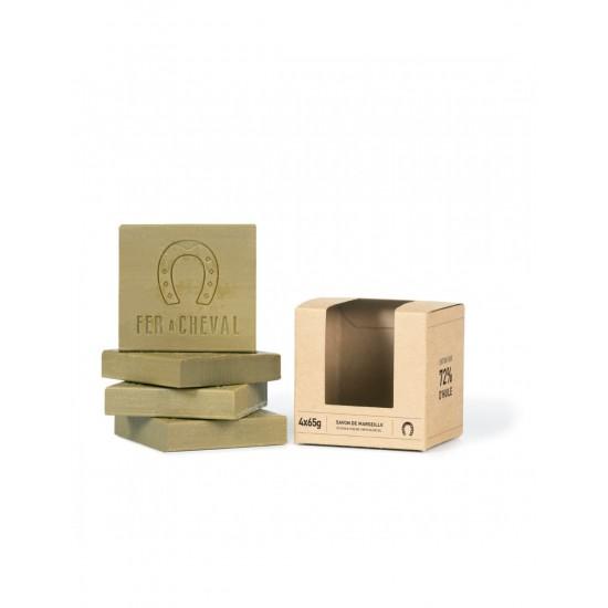 Fer à cheval - Cube tranché de savon de Marseille huile d'olive