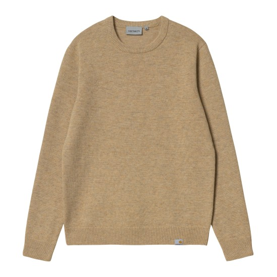 Carhartt WIP - Pull en laine beige chiné